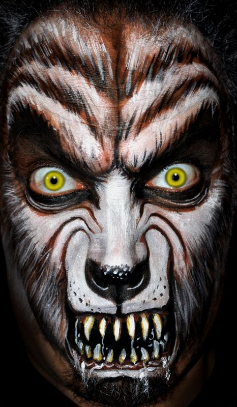 Werewolf Face Painting Make Up